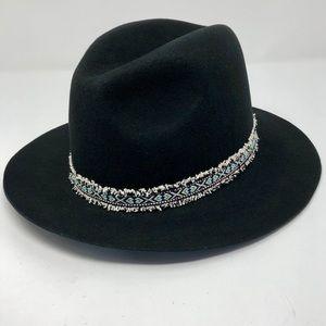 MICHAEL STARS Southwestern Wool Fedora Hat
